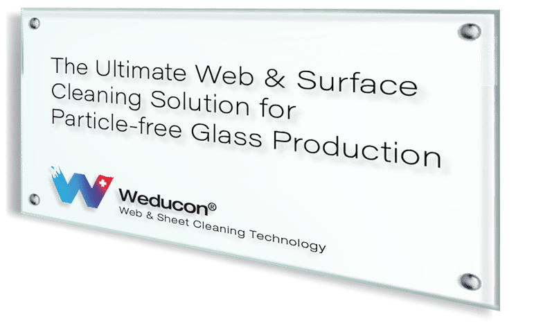 Weducon-web-surface-cleaning-for-glass-productioon
